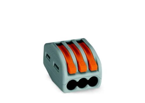 WAGO Kompaktna kratkospojna klema - za 3-provodnika - sa polugama - Maksimalna radna temperatura 85°C - 222-413