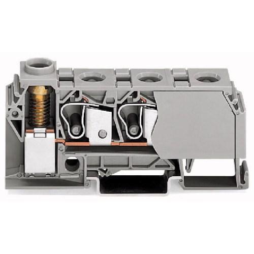 WAGO Distribuciona klema; 10 mm2 - Bočni slotovi za označavanje - za DIN-šinu 35 x 15 i 35 x 7.5 - 284-624