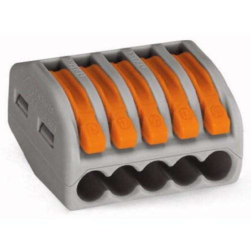 WAGO Kompaktna kratkospojna klema - za 5-provodnika - sa polugama - Maksimalna radna temperatura 85°C - 222-415