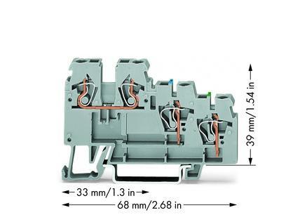 WAGO Senzorska klema - Klema za napajanje - za 3-provodnika - sa obojenim ulazima - 2.5 mm2 - 270-572