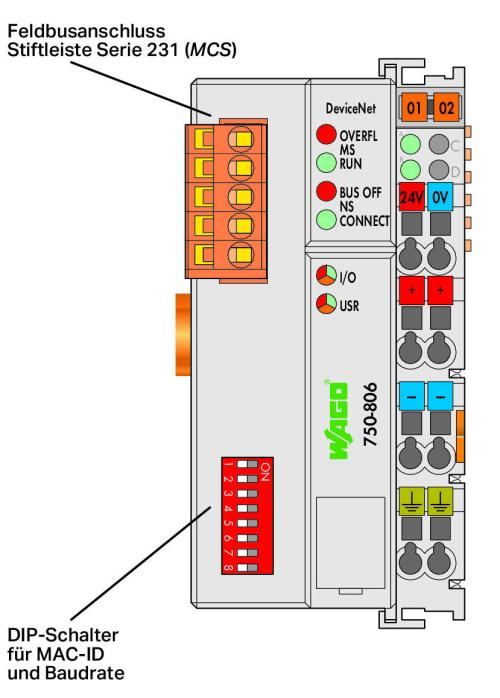 WAGO Kontroler DeviceNet 750-806