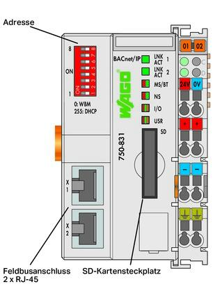 WAGO Kontroler BACnet/IP - 750-831