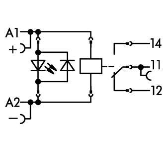 WAGO Postolje relea sa releom i indikatorom statusa - 1 preklopni kontakt - 24 VDC - 788-304