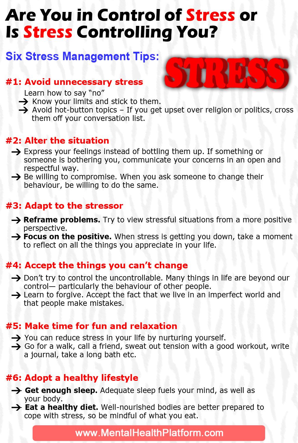Six Stress Management Tips