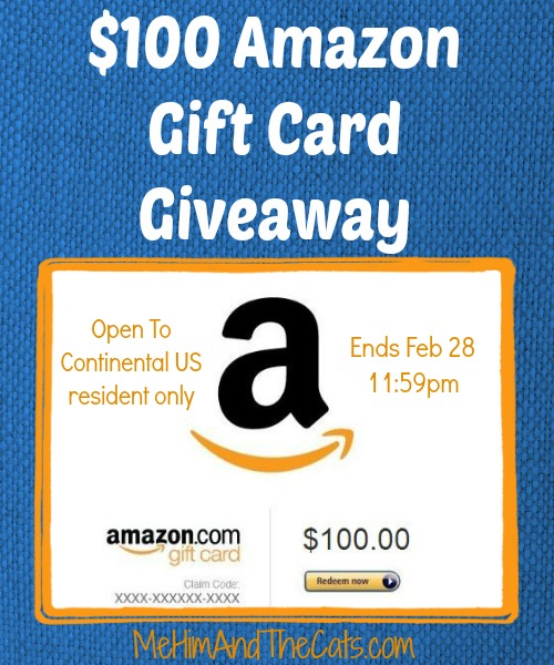 100 amazon Gift Card Giveaway Button