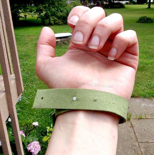 Eco Defense Mosquito Repellent Bracelet on Ankle