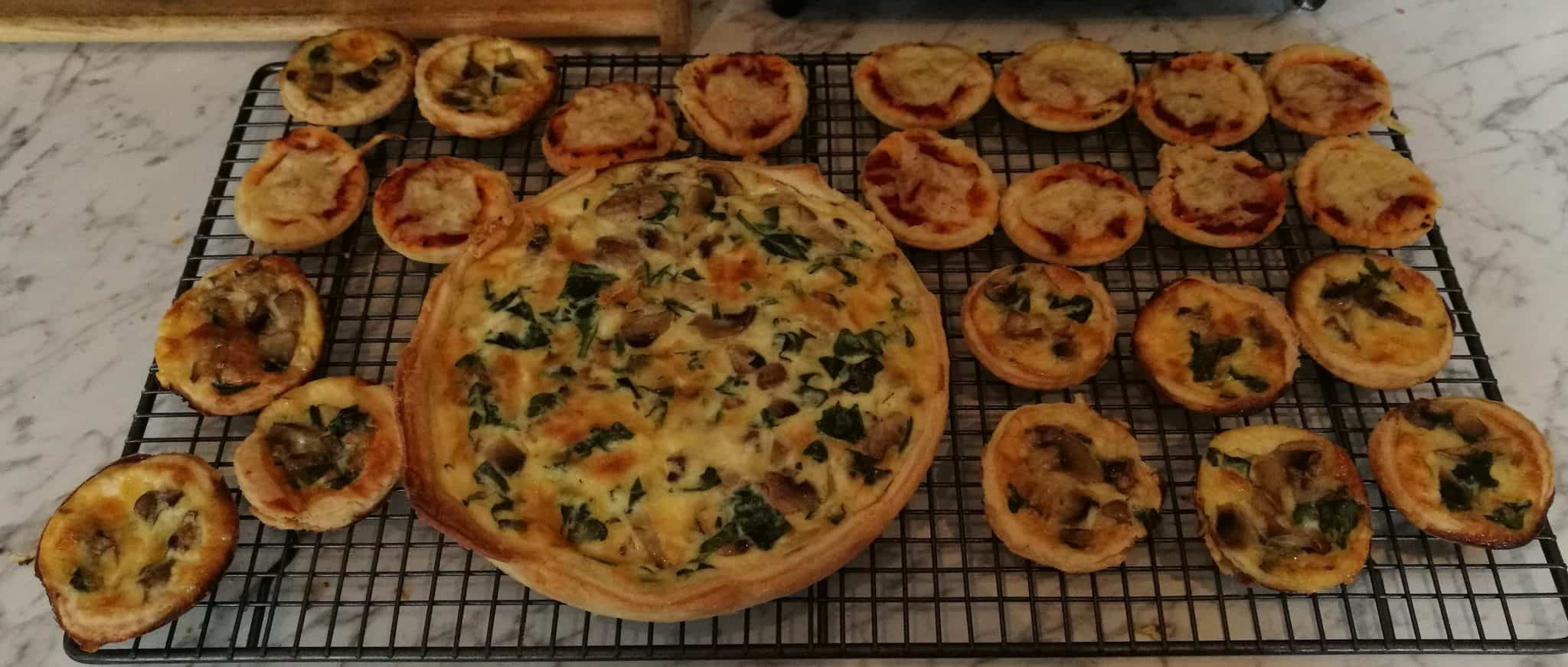Spinach and Mushroom Mini Quiches
