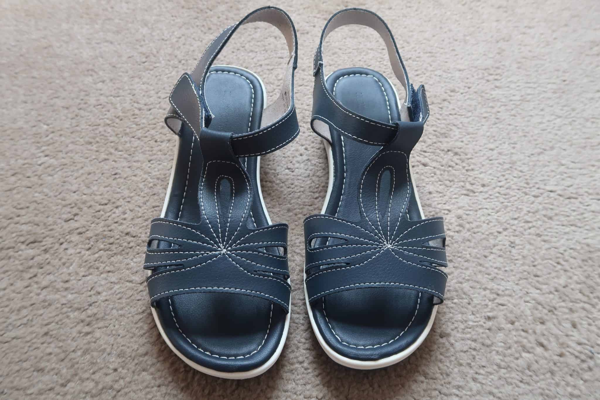 Heavenly Soles T Bar Sandals Extra Wide EEE Fit