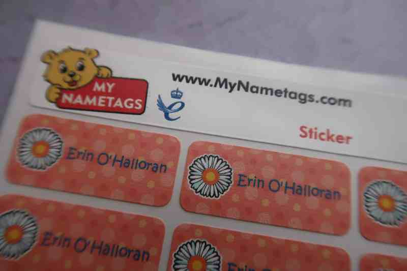 My Name Tags colour stickers