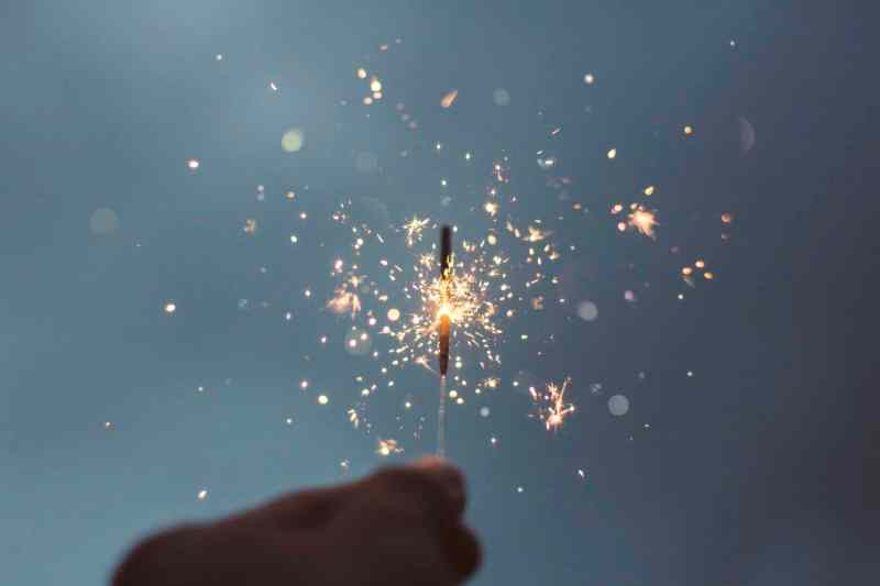 New Year's sparklers