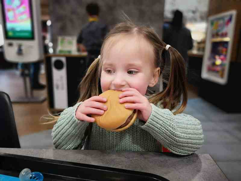 Erin eating at McDonald's