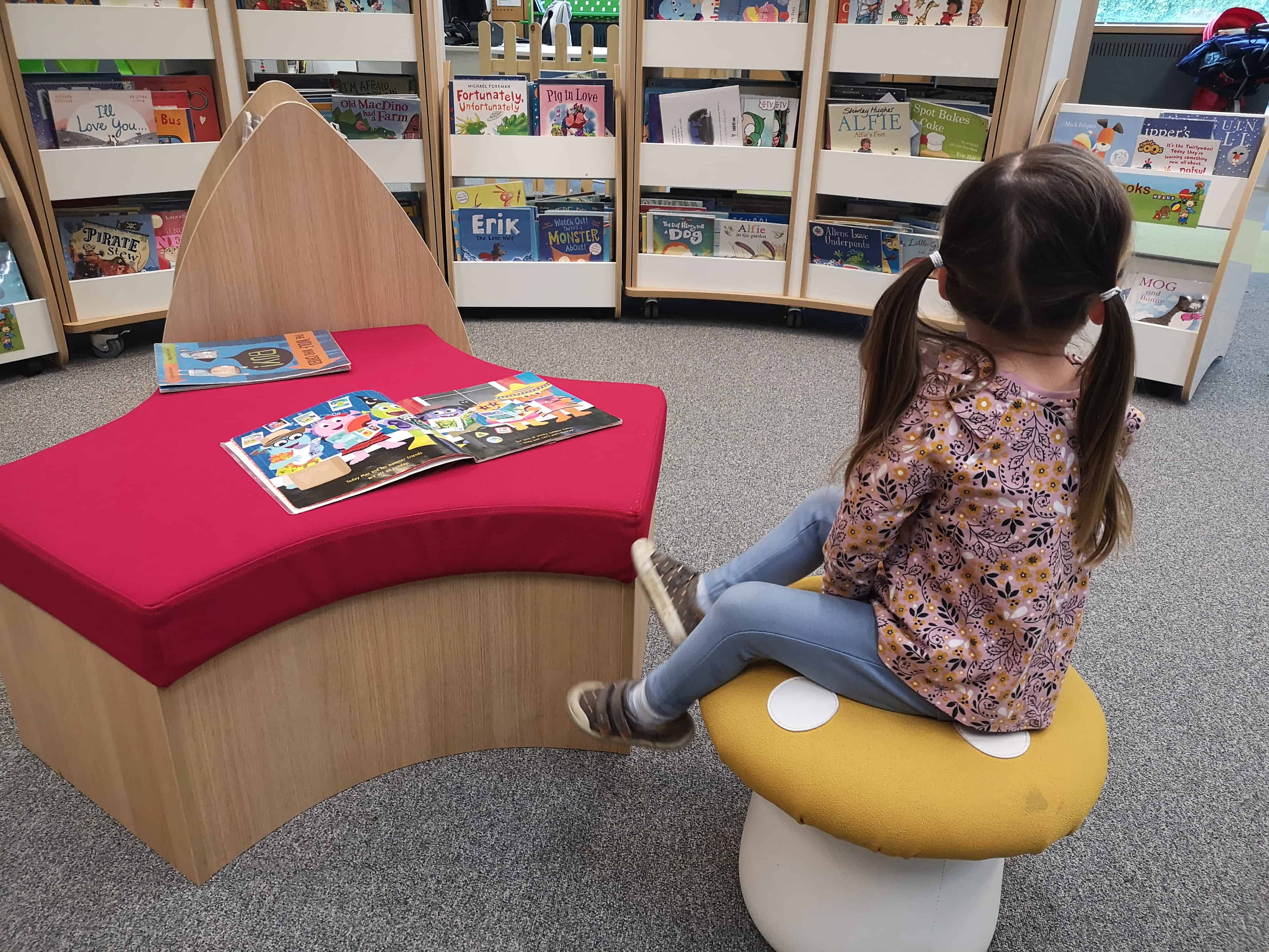 Children's department at the Norfolk and Norwich Millennium Library