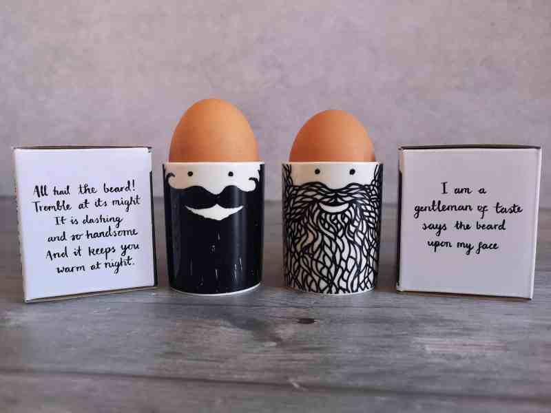 Hubert & George Beard Egg Cup Set from Red Candy