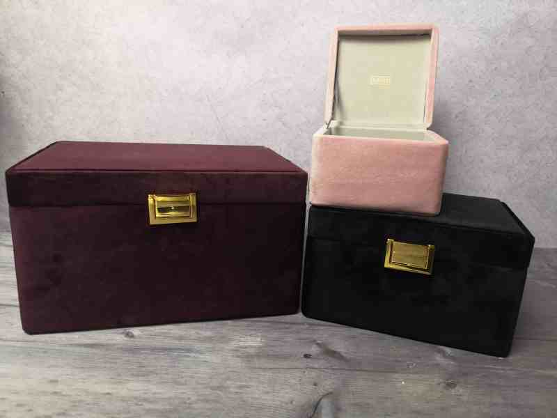 Set of 3 velvet jewellery boxes - Beautify
