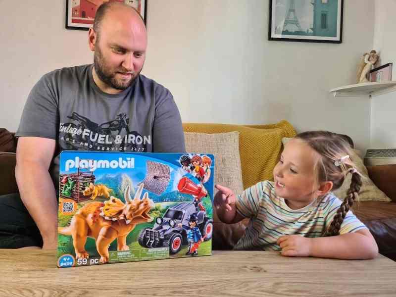 Playmobil Dinos Enemy Quad with Triceratops