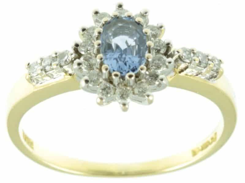Ceylon Sapphire & Diamond Ring