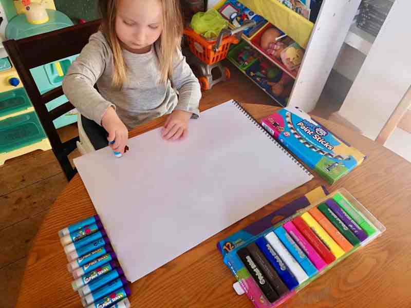 Erin using Little Brian Paint Sticks