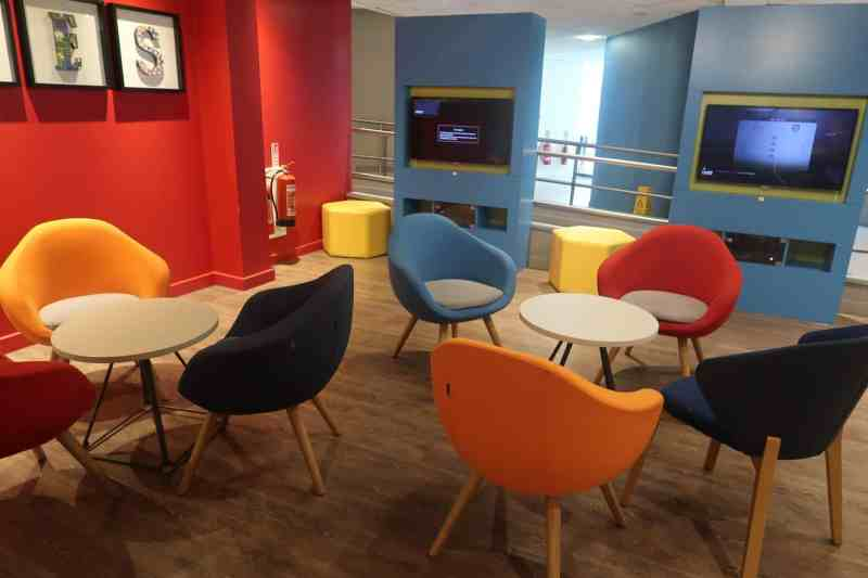 Holiday Inn Express London - Stansted Airport Hotel renovated lounge