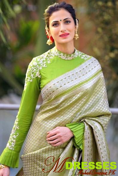 New Saree Color Combinations for wedding in Pakistan ...