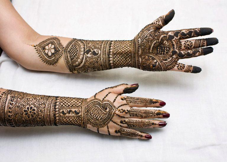 Latest bridal Mehndi Designs Images for left hand