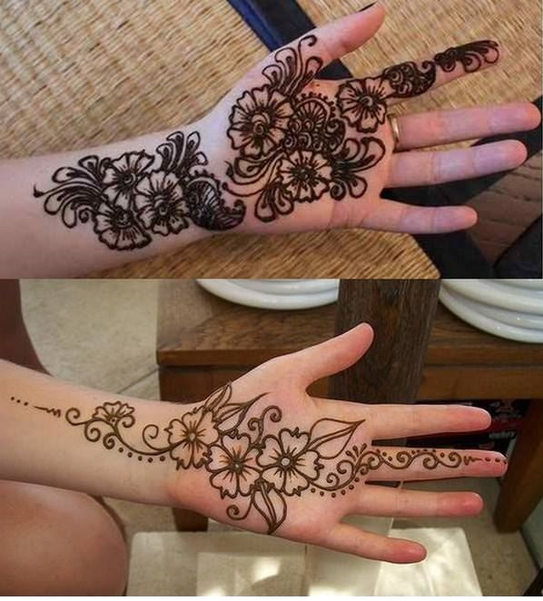 beautiful easy and simple mehandi design for left hand