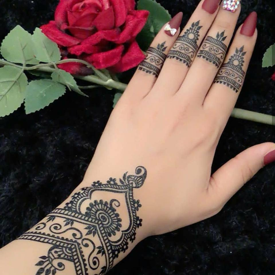 beautiful easy mehndi tattoo designs for hand simpe for bigenners