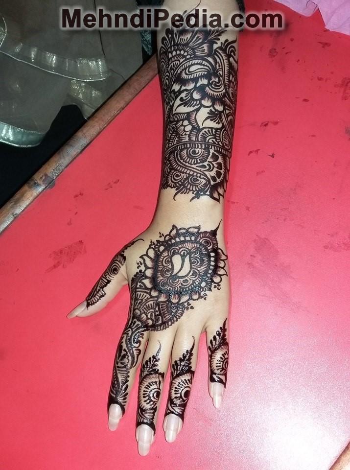 Simple mehndi design for left hand - Mehndi desings