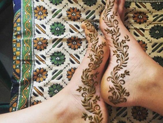 foot mehndi design bail for side
