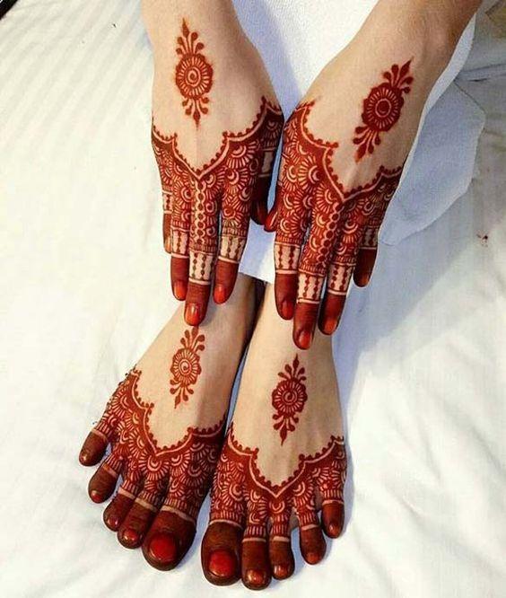 mehandi design for legs easy