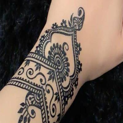 step 3 henna mehndi design for hand easy