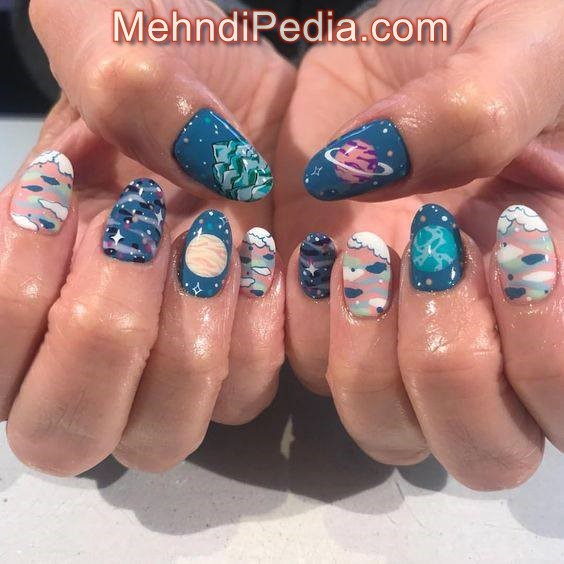 simple polka dot nail art without tool