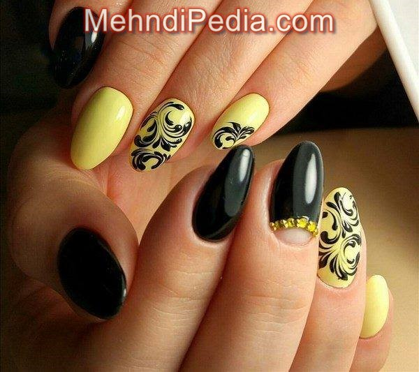 mother's day nail colors orange color