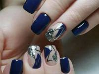 dark blue nail art polish designs