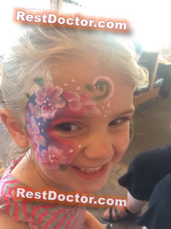 smile little girl face paint