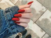 Glitter Gradient Nails red long