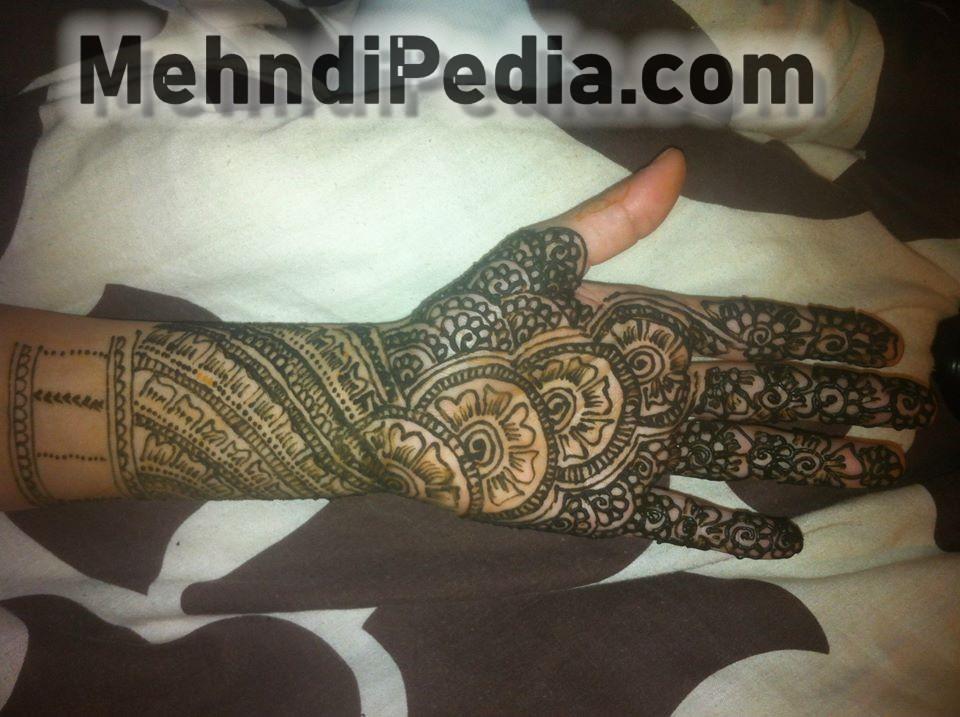 wedding mehndi designs for full hand front side