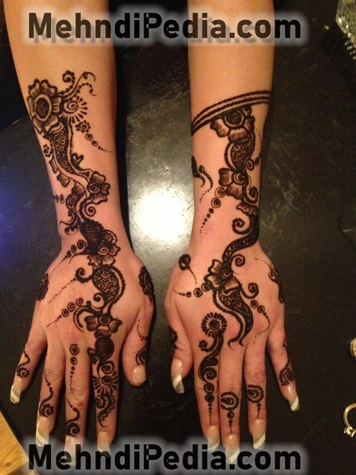 Beautiful Mehndi designs for both hand