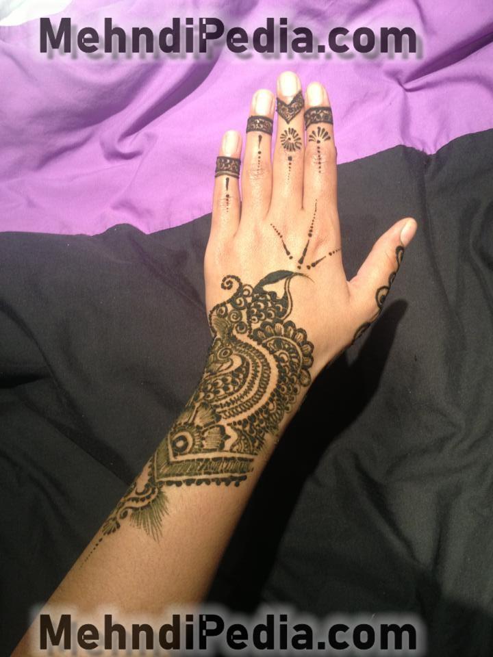 finger and arm medhndi designs for collage girls