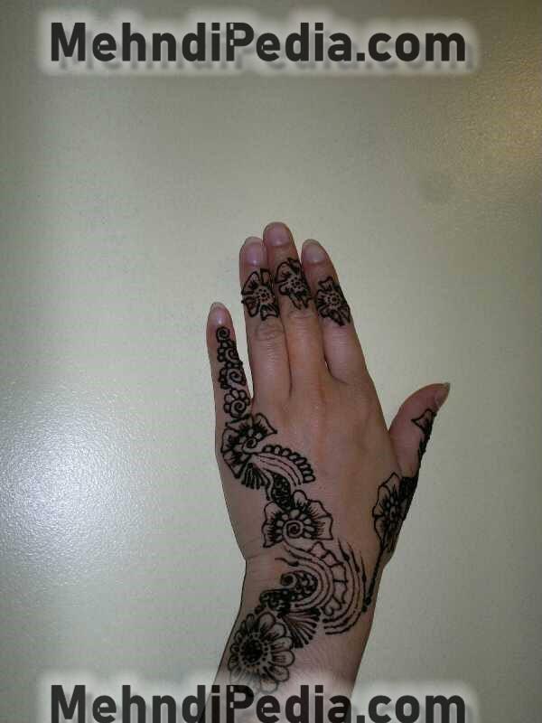 finger thumb and wrist mehndi designs