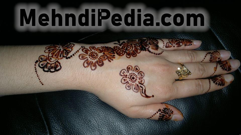 flowers mehndi designs for back hand