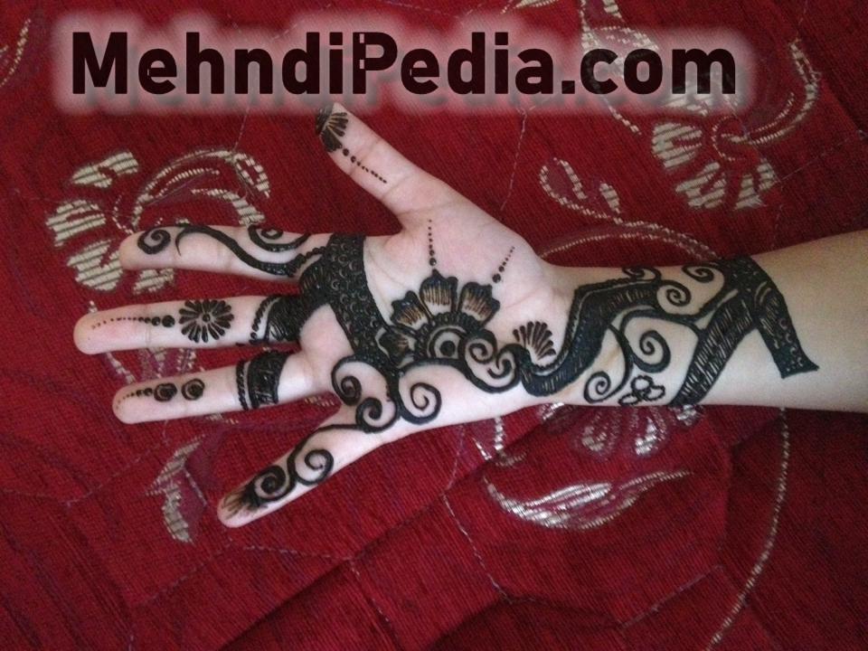 front hand mehandi desines for white hand