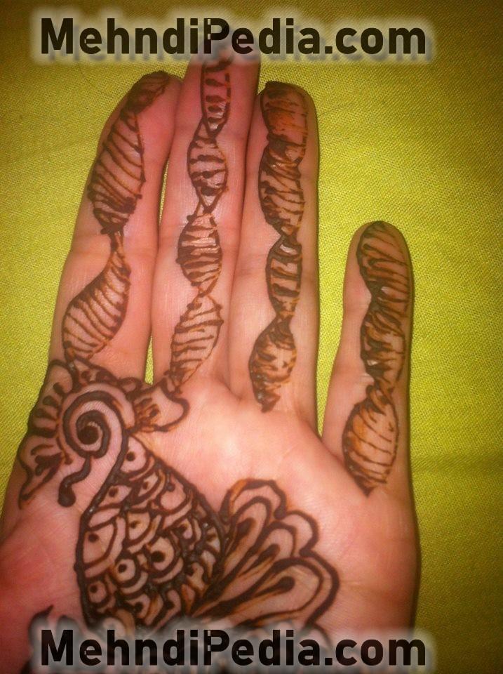 mehndi design for left hand front side for girls