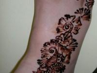 right foot right side mehndi designs