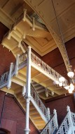 library-inside-stairs