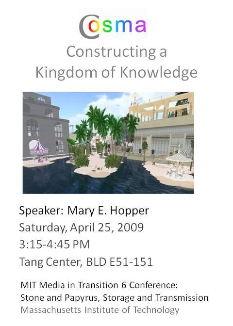 Cosma: Constructing a Knowledge Kingdom