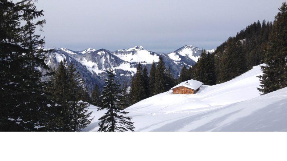 Rotwand Reibn: Blick in Richtung Brechersputz und Bodenschneid