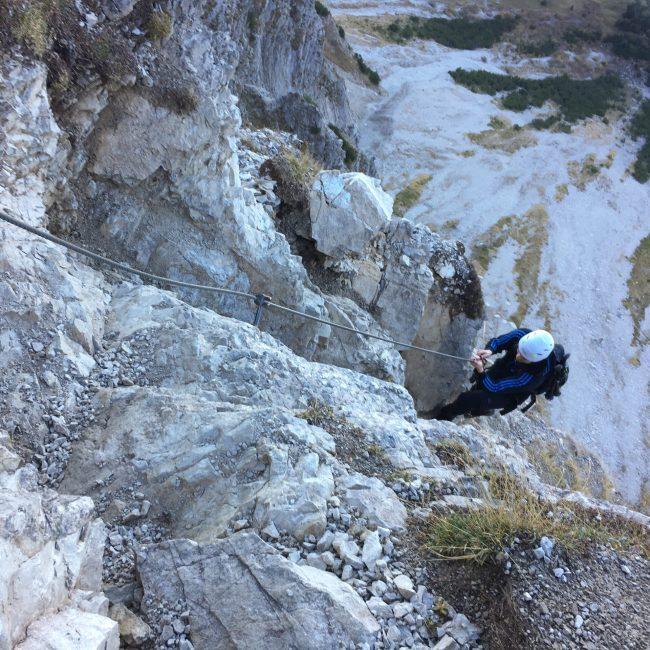 Im Aufstieg zum Iseler - Salewa Klettertseig
