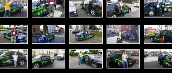 Bildergalerie mit glücklichen Fahrschülern aus Oelde