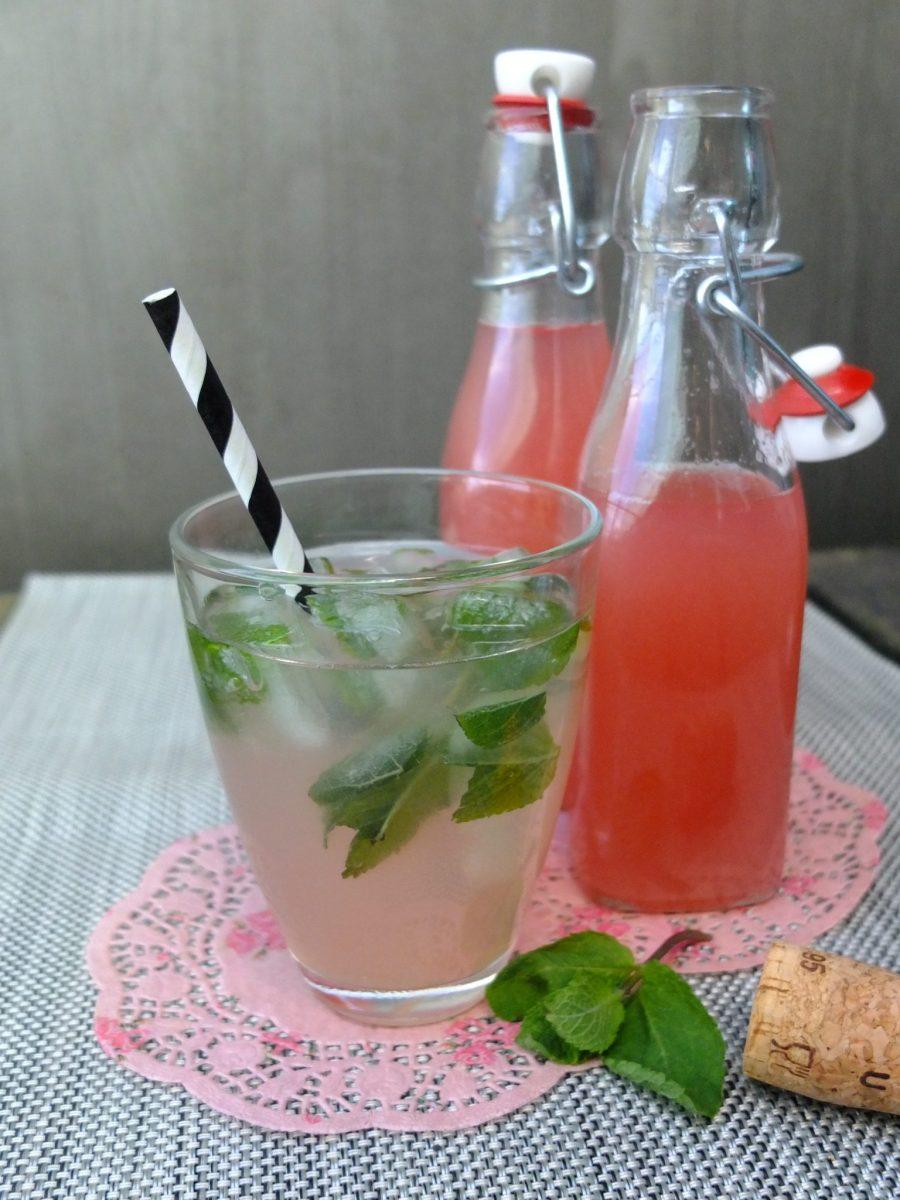 Erfrischender Rhabarber-Minz-Secco – mit selbst gemachtem Rhabarbersirup