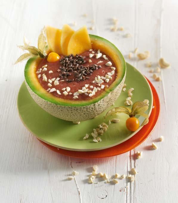 """Melonen-Smoothie-Bowl - aus meinem Kochbuch """"Smoothie Bowls"""""""